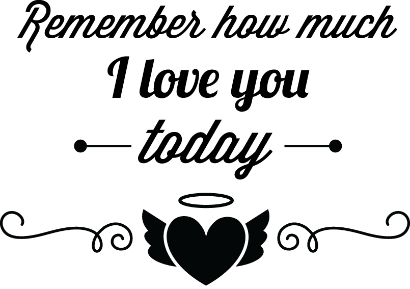 Remember how much I love you today